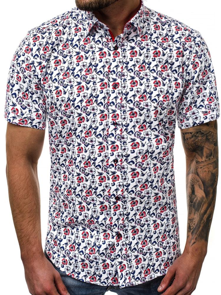 f63c8860a3c6 Pánska košeľa v kvetinovom vzore V K108 - Budchlap.sk