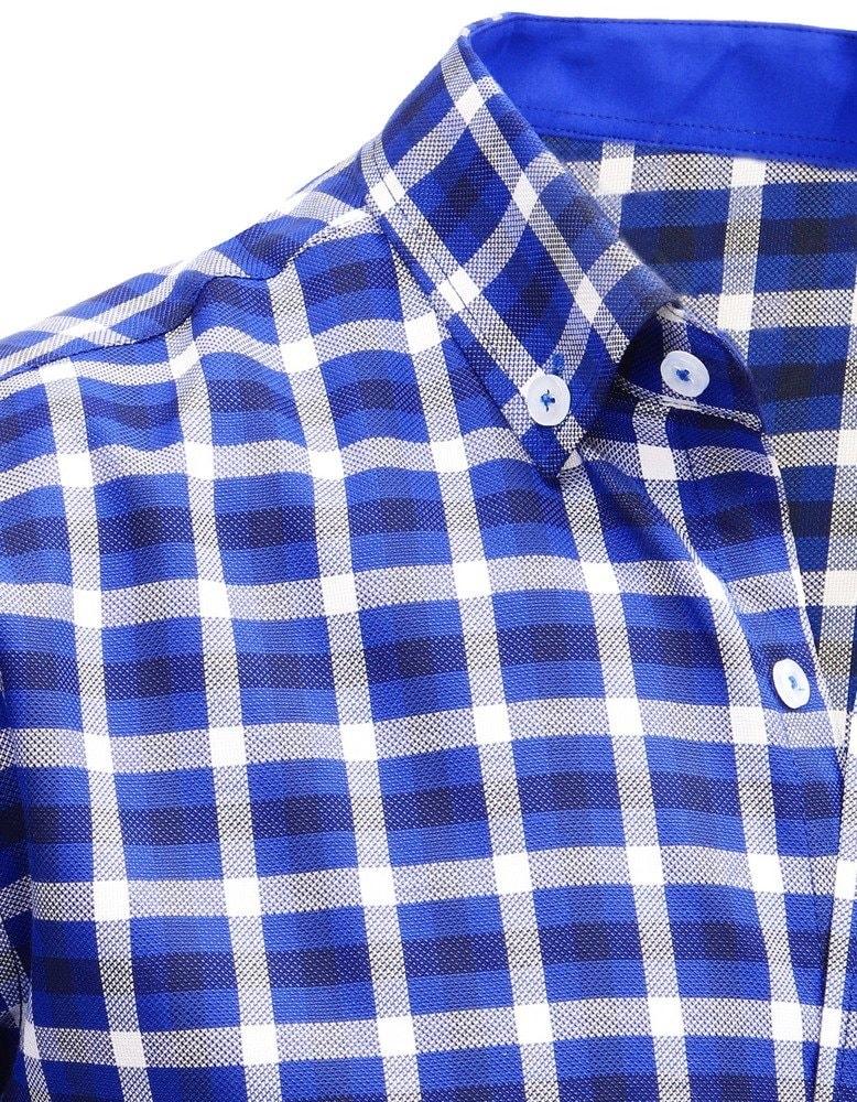 51363ac705a8 Štýlová kockovaná modrá košeľa - Budchlap.sk
