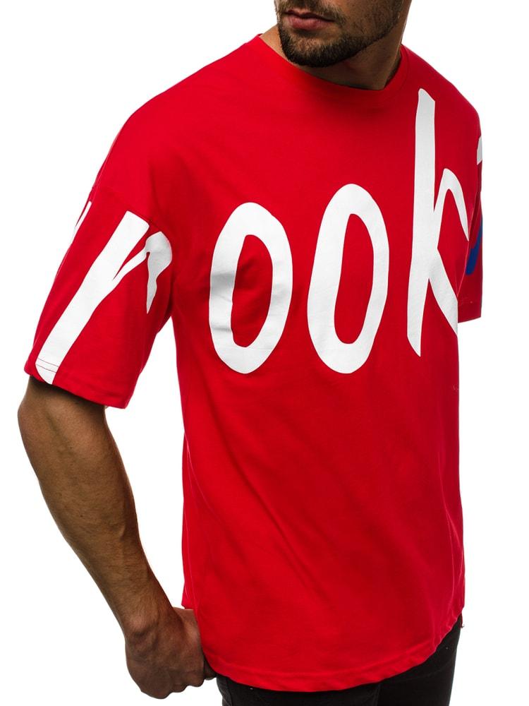0dd35b5d2ba0 Trendy červené pánske tričko B 80004 - Budchlap.sk
