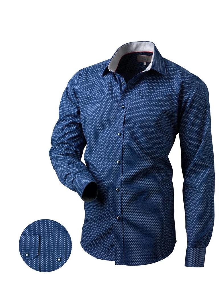 8a4f4a5d0 Štýlová vzorovaná pánska košeľa V167 - Budchlap.sk