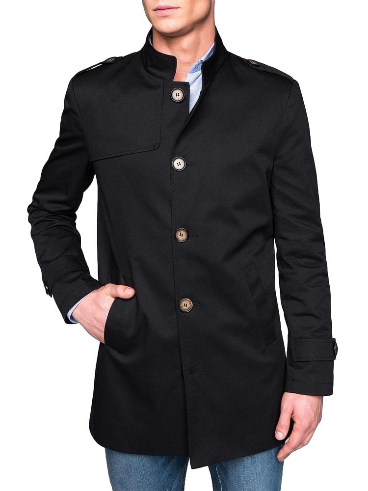 d05084ea117e Prechodný pánsky kabát čierny c269 - Budchlap.sk