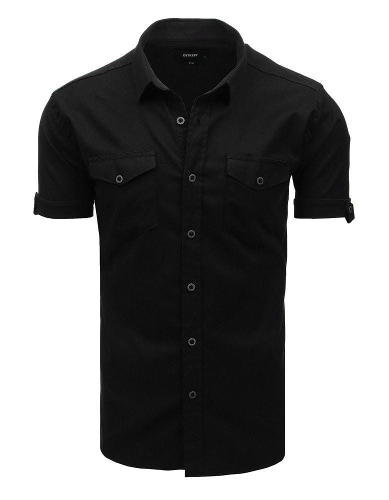 6c9334e44 SLIM FIT moderná čierna košeľa - Budchlap.sk