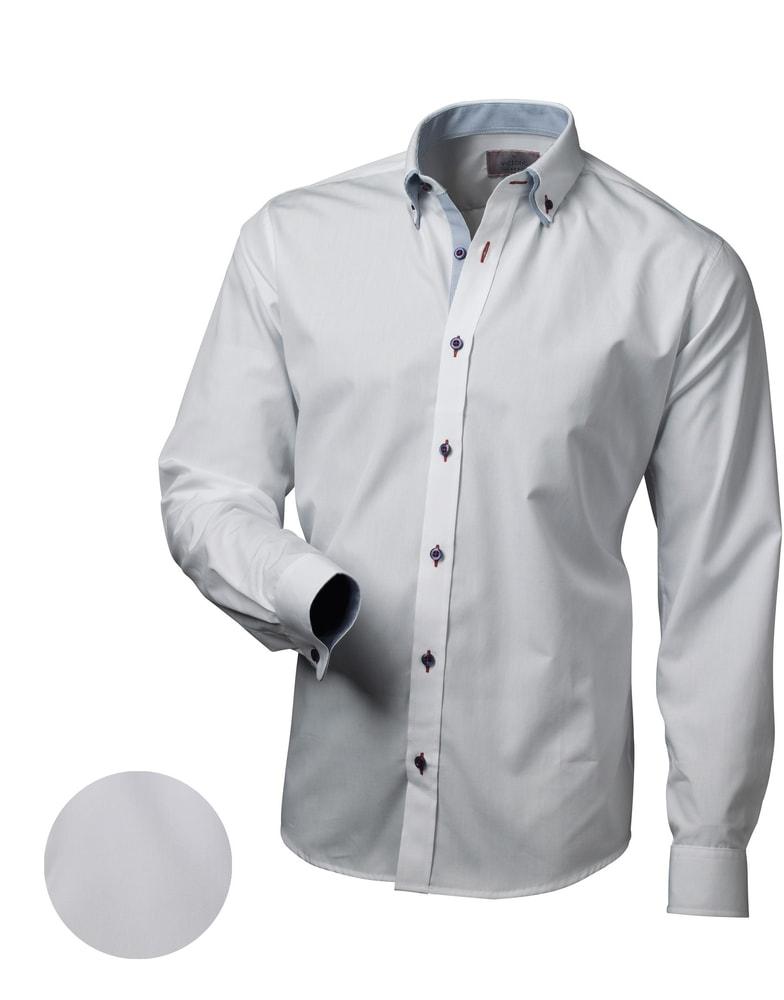 83c61e329fcf Elegantná biela slim fit pánska košeľa V013 - Budchlap.sk