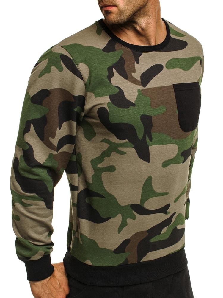 da62805b1 ARMY tričko s dlhým rukávom a náprsným vreckom ATHLETIC 741 ...