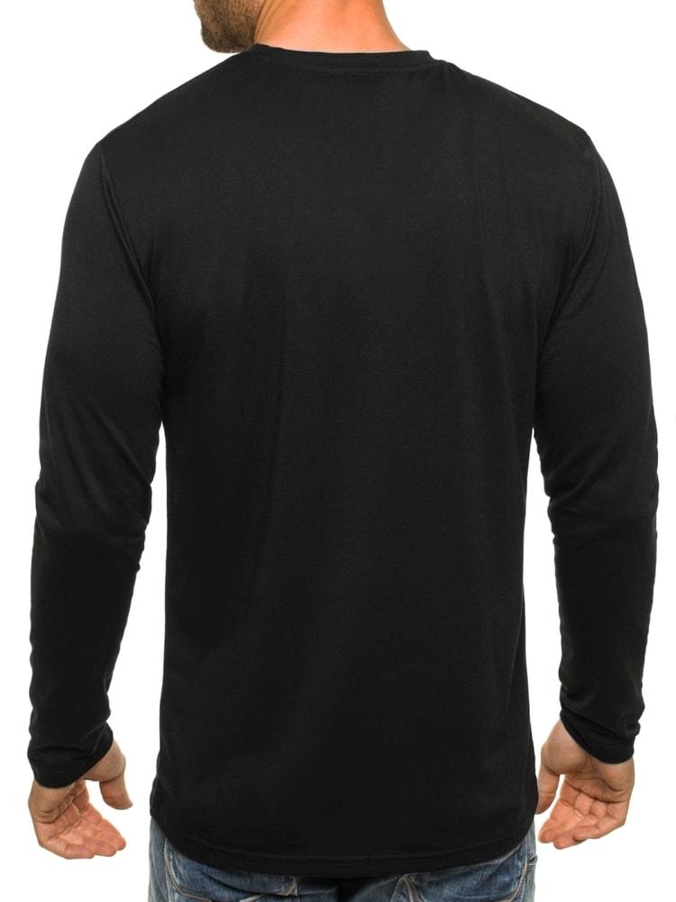 358818d44 Klasické tričko s dlhým rukávom v čiernej farbe STREET STAR MX135 ...
