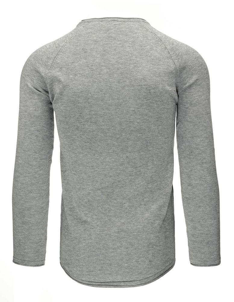 51b722adb0b5 Fantastický šedý sveter v atraktívnom dizajne - Budchlap.sk