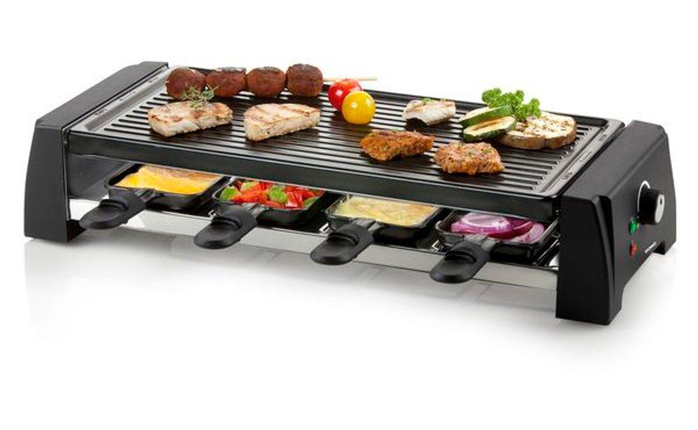 DOMO Raclette gril pro 8 osob - 2v1 - DOMO DO9189G, pro 8 lidí