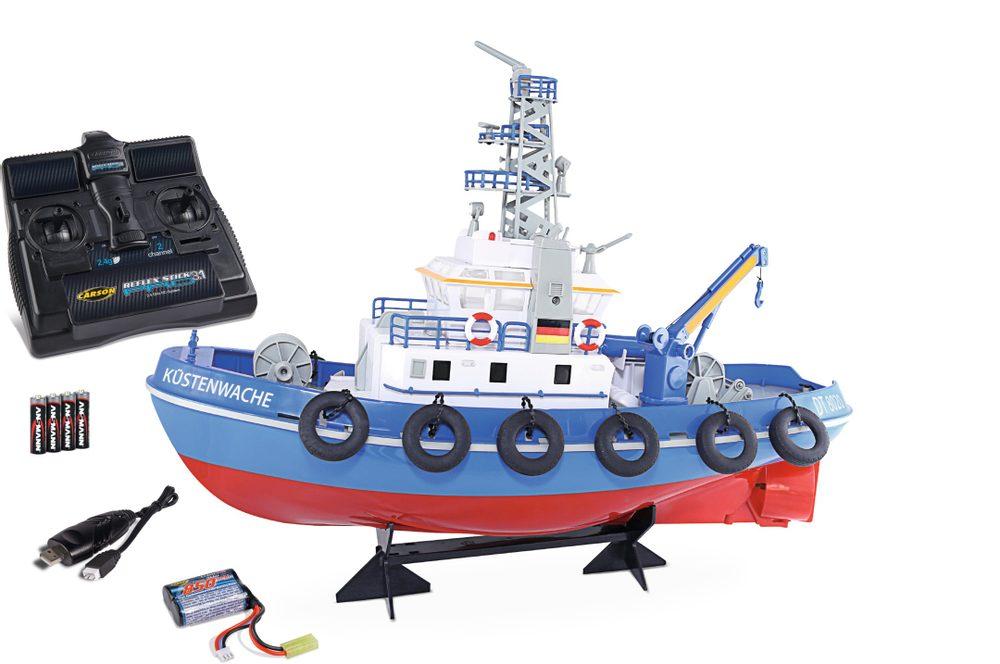 CARSON MODEL SPORT Pobřežní stráž Küstenwache, loď s funkčním vodním dělem RTR sada