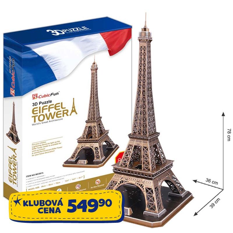 Puzzle 3D Eiffelova vež - 82 dílků