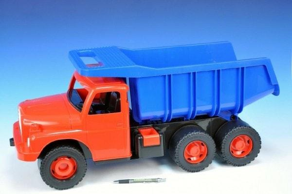 Dino Auto Tatra 148 plast 73cm v krabici - červená kabina modrá korba