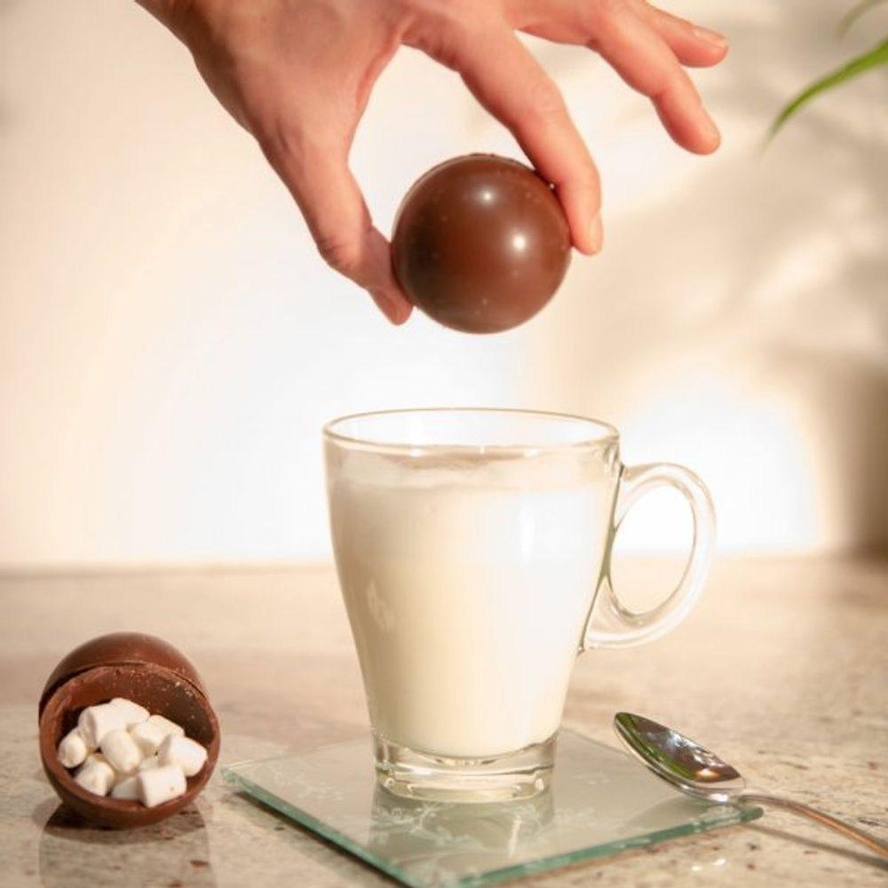 Popron.cz Čokoládová bomba do kávy či mléka s marshmallow