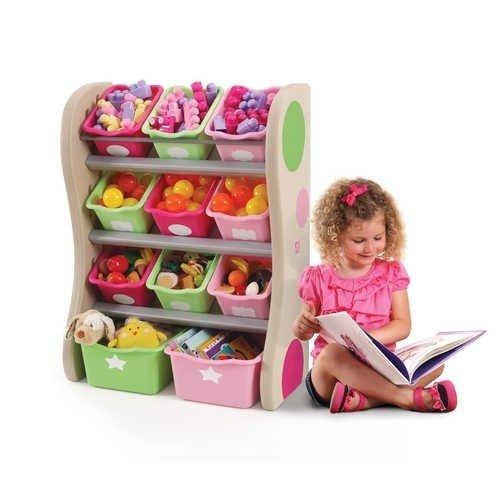Step2 Skříňka s boxy na hračky PASTEL