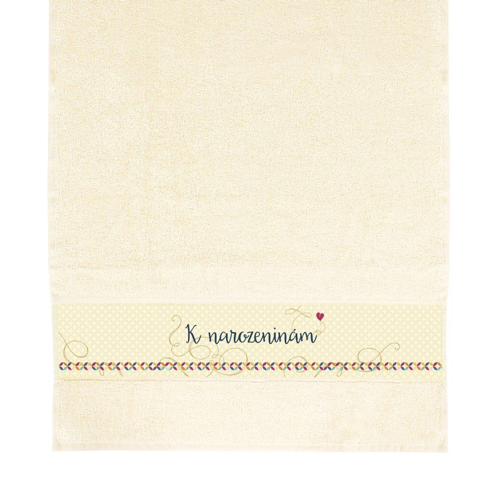 ALBI Béžový ručník - K narozeninám