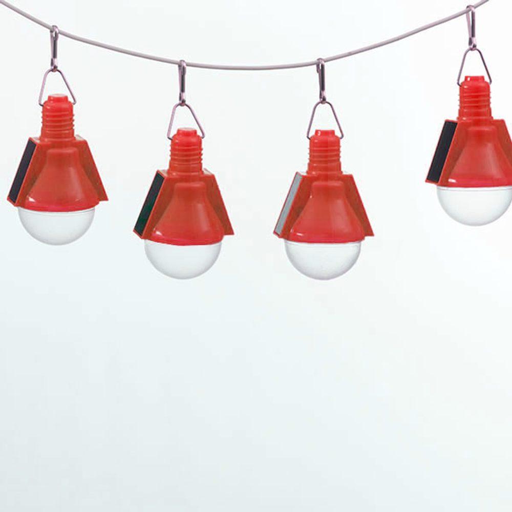 Oh My Home Solární Žárovky (4 kusy v balení) Červený