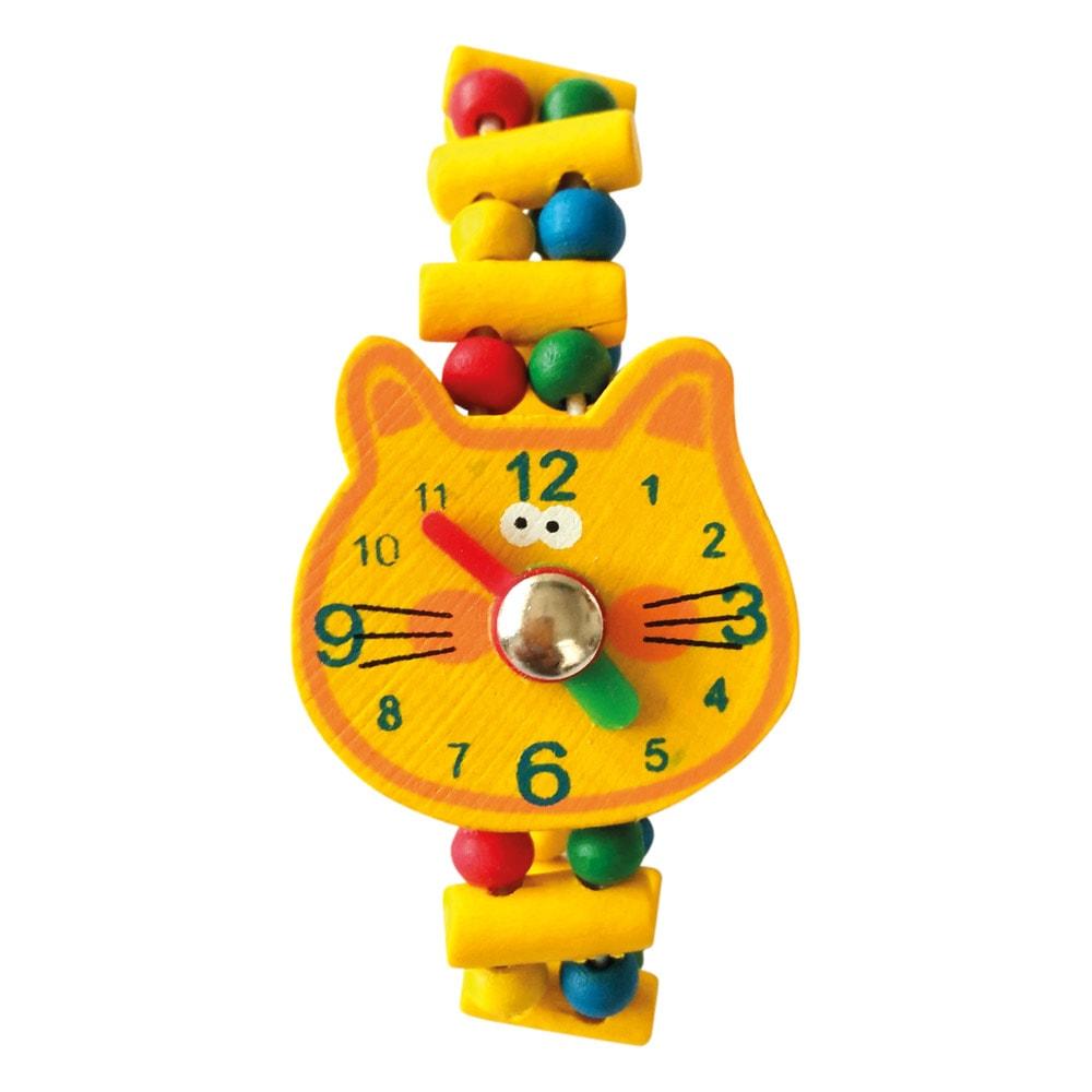 Bino Dřevěné hodinky - Kočka