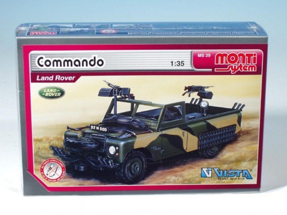 Vista Stavebnice Monti 29 Commando Land Rover 1:35 v krabici 22x15x6cm