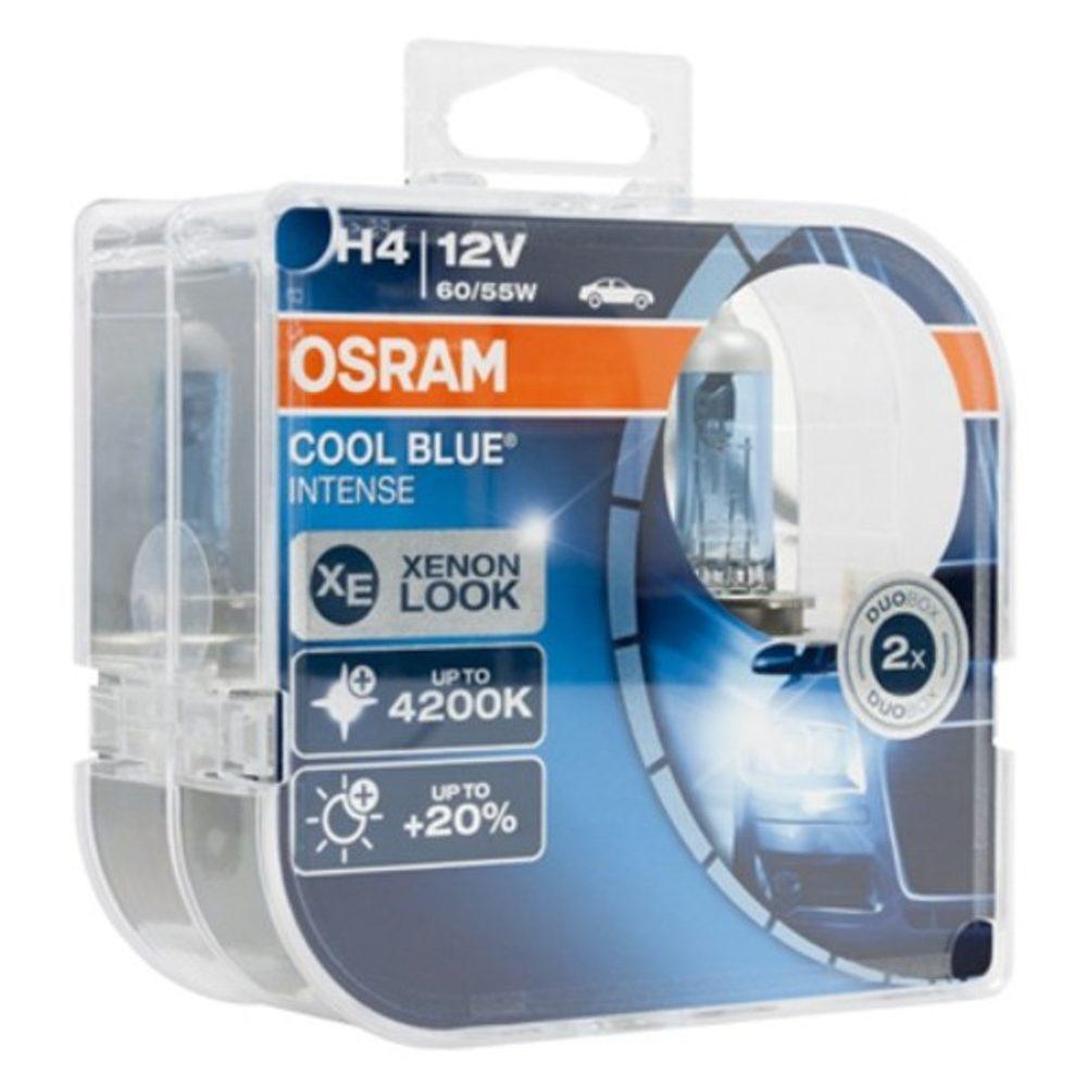 BigBuy Car žárovka Osram H4 60/55W 2 Cool Blue Intense