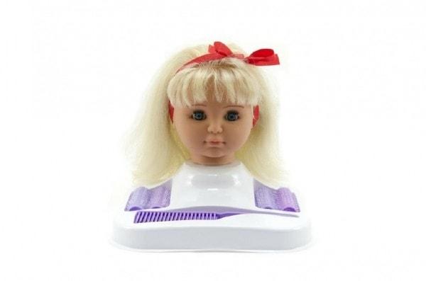 Česací hlava Hamiro blond s doplňky v krabici 24x28x19cm