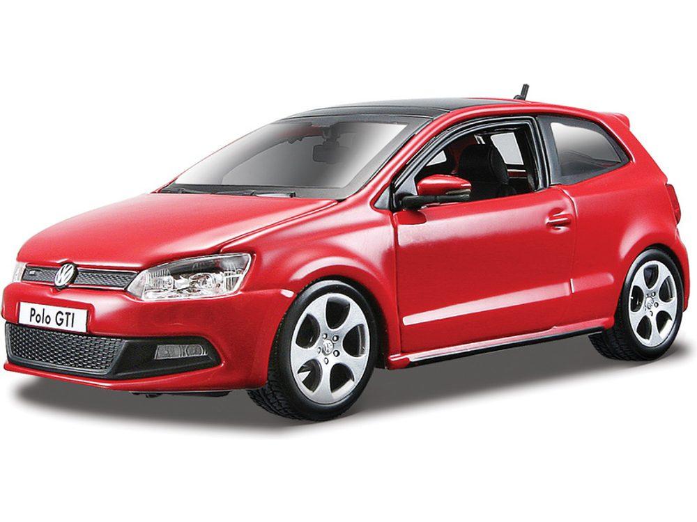 Bburago Kovový model auta Bburago Plus VW Polo GTI Mark 5 1:24 červená