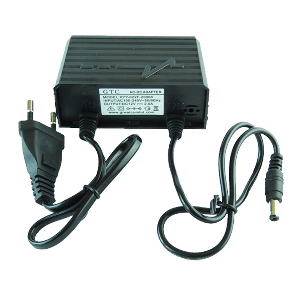 Napájecí venkovní síťový adaptér AC / DC 12V 2A pro CCTV kamery