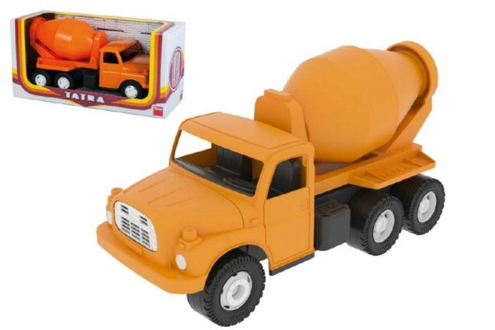 Dino Auto Tatra 148 plast 30cm míchačka oranžová v krabici