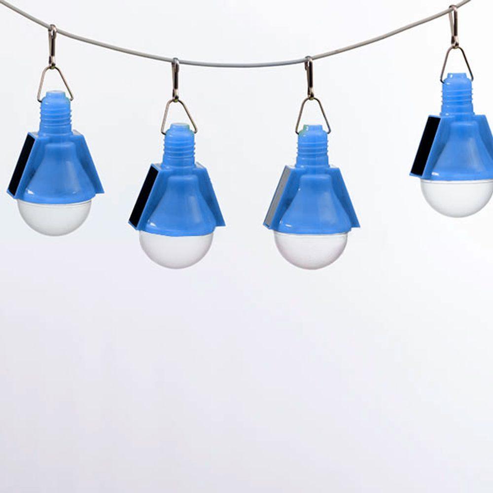 Oh My Home Solární Žárovky (4 kusy v balení) Modrý