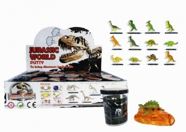 Teddies Sliz - hmota Dinosaurus 6cm asst 24ks v boxu