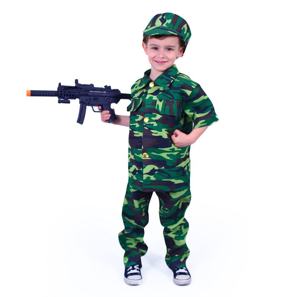 RAPPA Dětský kostým voják (S)