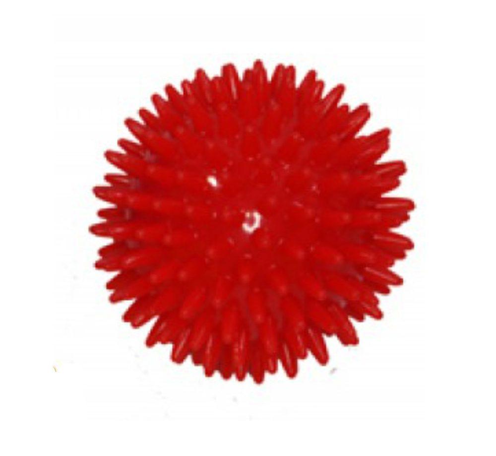 Modom Masážní míček ježek 8 cm - červený