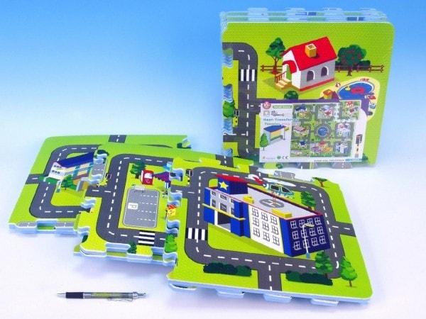 Pěnové puzzle Město 32x32cm 9ks