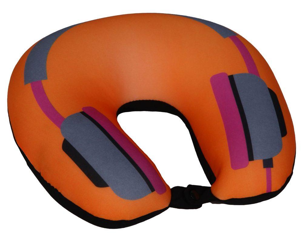 Modom Cestovní polštář podkova oranžová - sluchátka - BX 17