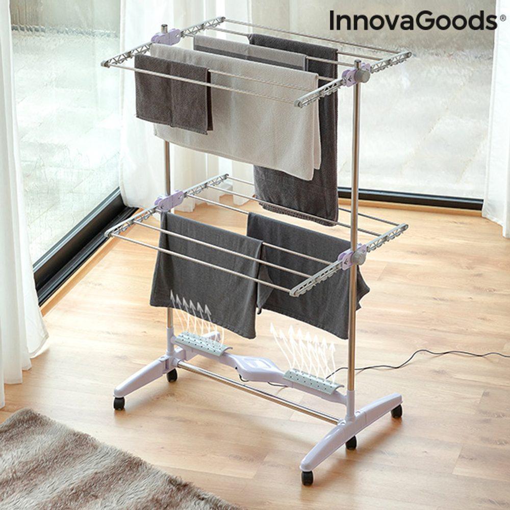 InnovaGoods Skládací elektrický vysoušecí sušák s průtokem vzduchu Breazy InnovaGoods (12 Tyčí) 24W