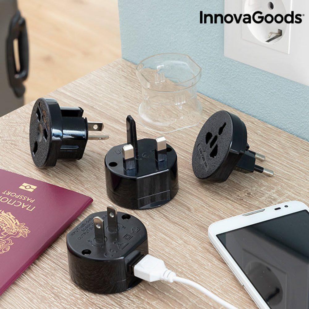 InnovaGoods Univerzální cestovní adaptér na zásuvku Electrip InnovaGoods