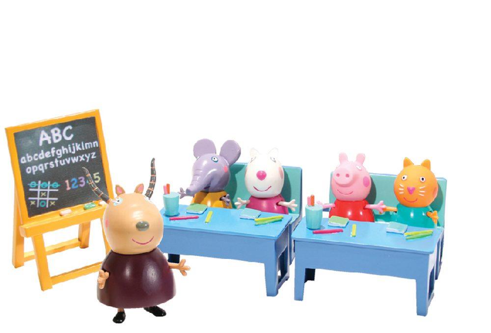 TM Toys Školní třída + 5 figurek Prasátko Peppa