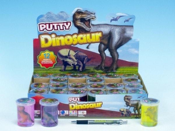 Teddies Sliz - hmota dinosaurus 6cm asst 6 barev 24ks v boxu