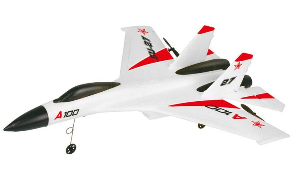 S-Idee SU-27 RC letadlo s 3D stabilizací a ovládanou výškovkou, 335mm, RTF, bílá