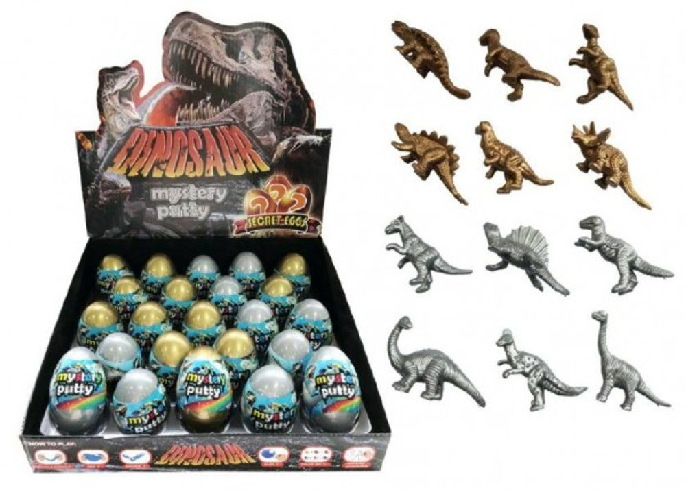 Teddies Sliz - hmota vejce dinosaurus 7cm asst 23ks v boxu