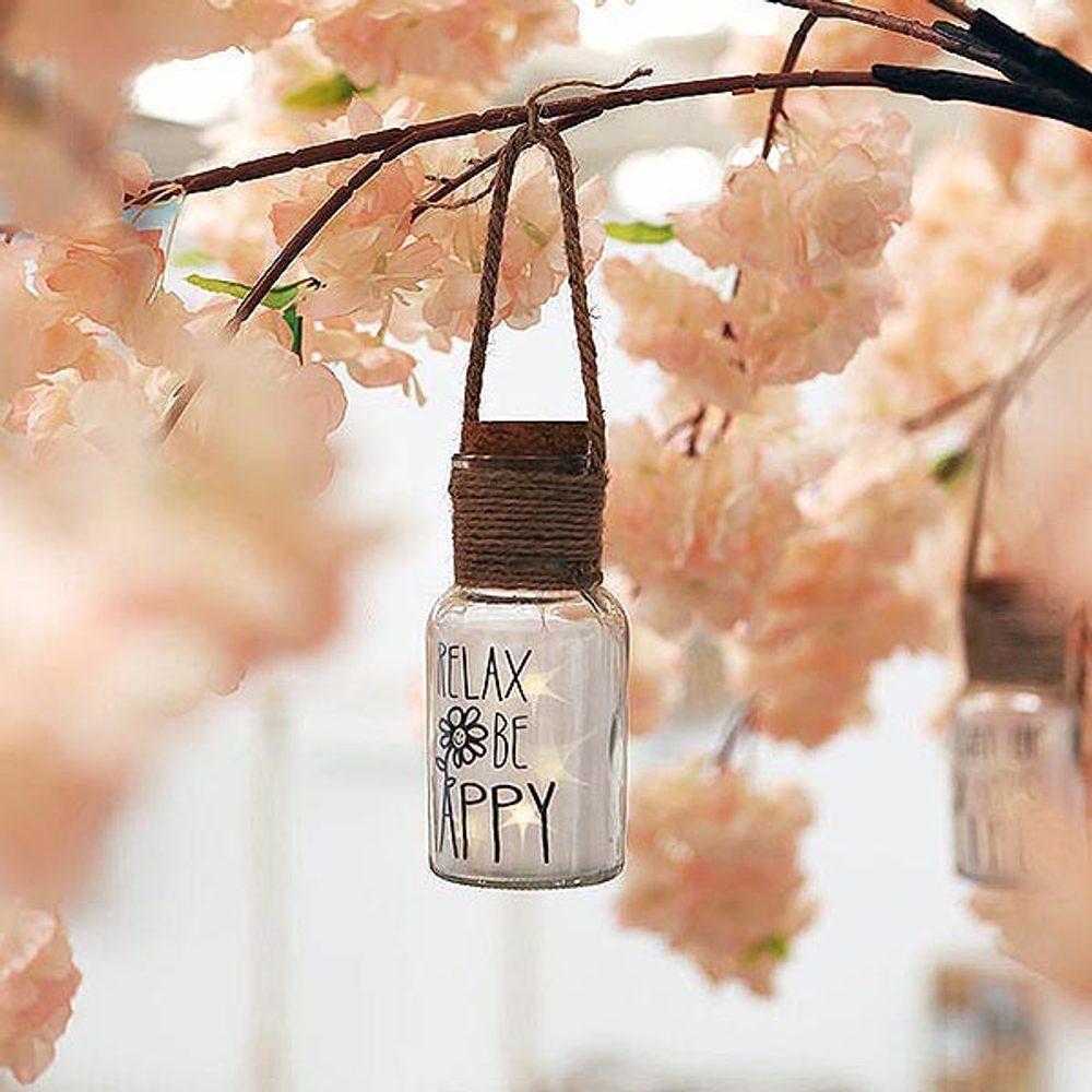 BigBuy Home Lampion (8 x 15 cm) Led