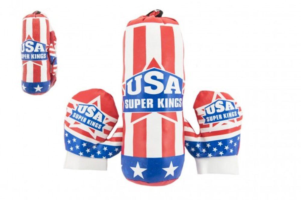 Teddies Boxovací pytel 10x33cm + rukavice v síťce