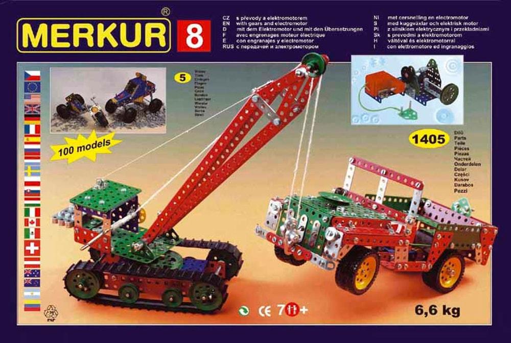 Stavebnice MERKUR 8 130 modelů 1405ks