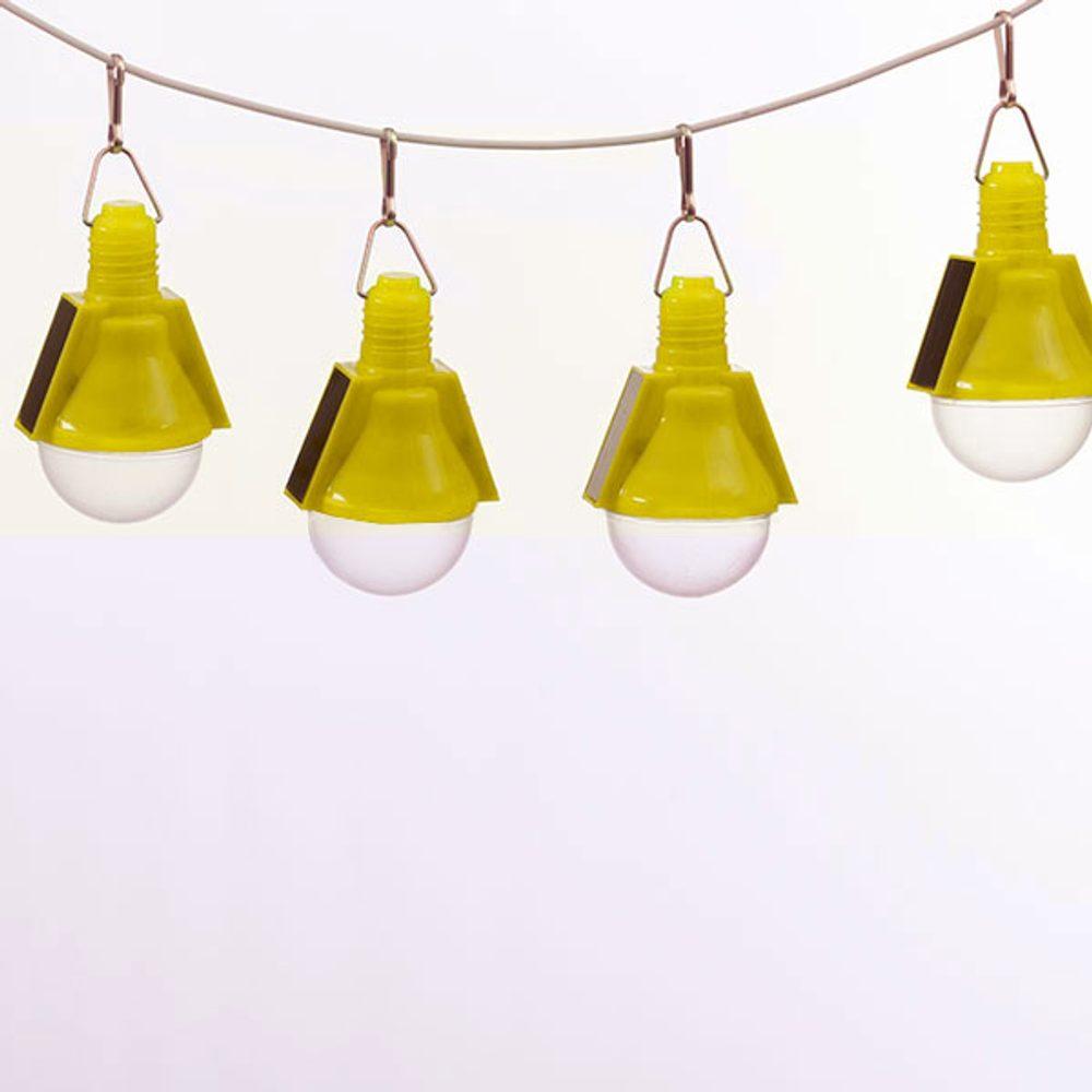 Oh My Home Solární Žárovky (4 kusy v balení) Žlutý