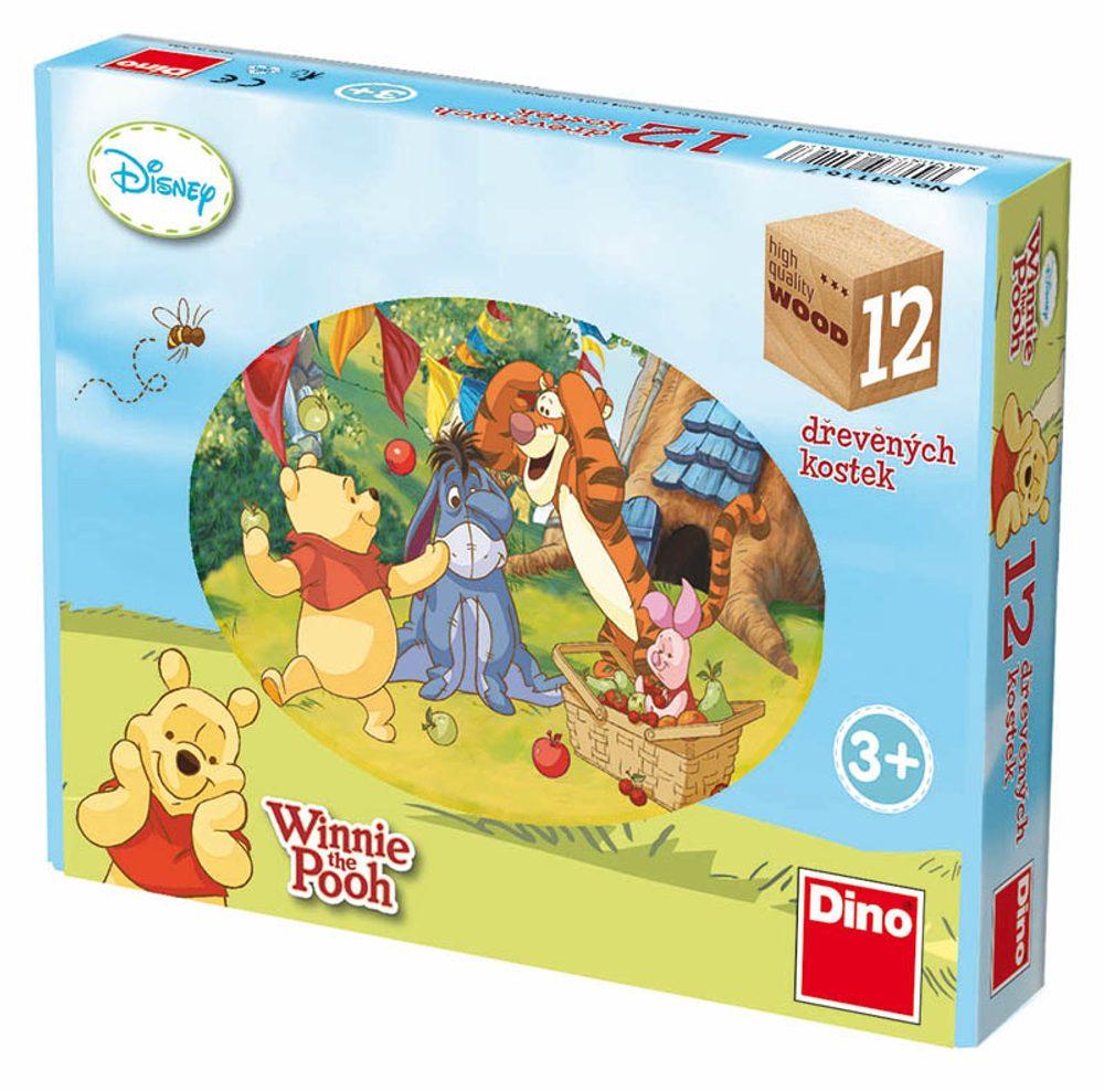DINO Toys Kubus Medvídek PÚ, 12 kostek