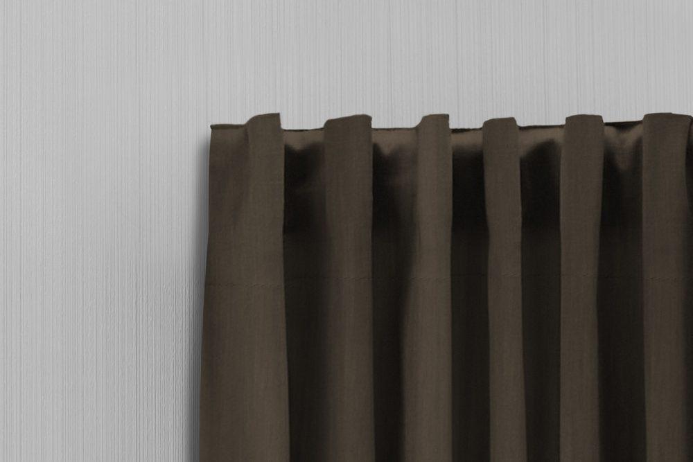 LIFA LIVING Interiérové závěsy - Tmavě hnědá 300x250cm na háčky