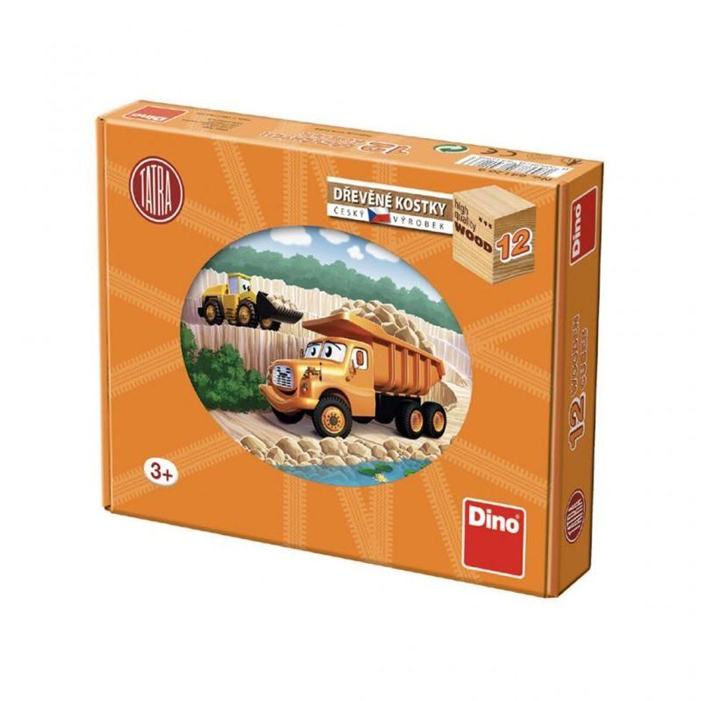 Dino Tatra dřevěné kostky 12K