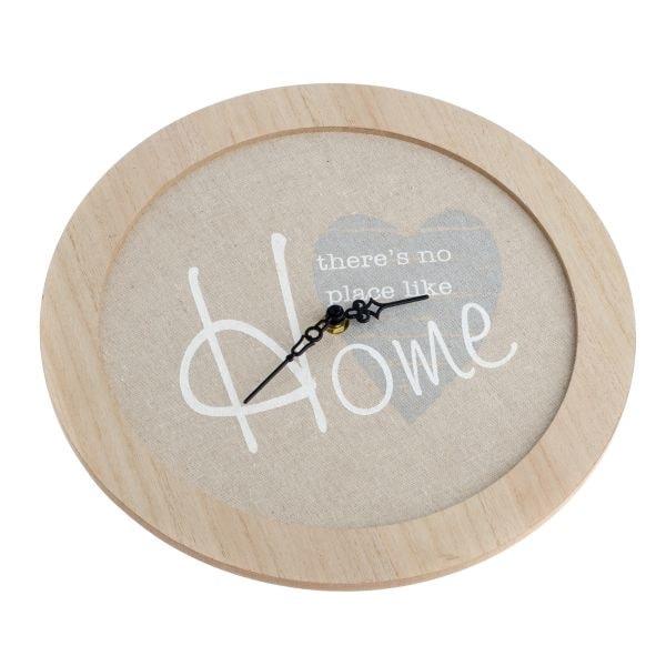 Dřevěné hodiny Home 30 cm