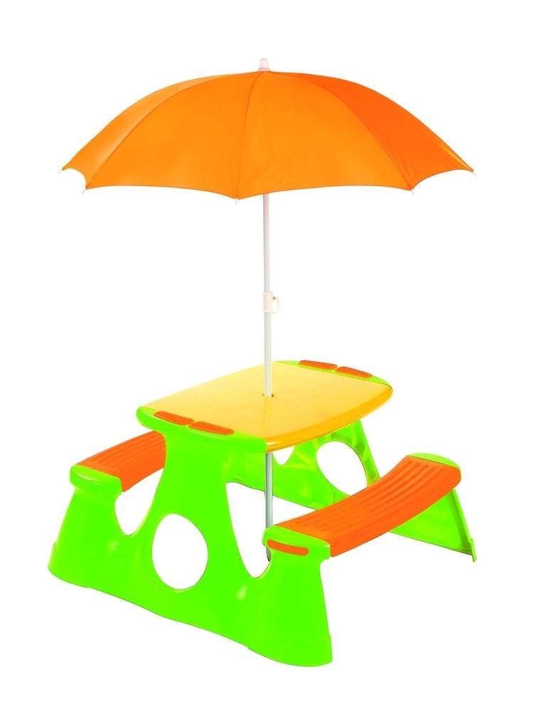 Alltoys Paradiso Piknikový stolek + lavice se slunečníkem
