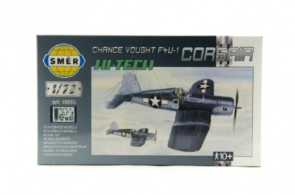 Směr Model Chance Vought F4U-1 Corsair HI TECH 1:72 14,1x1,73cm v krabici 25x14,5x4,5cm