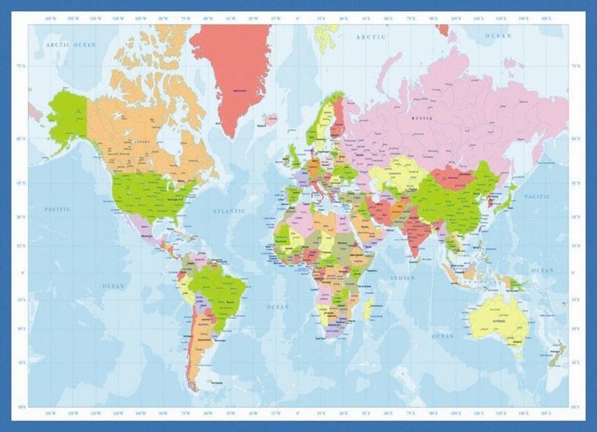 Popron Cz Eurographics Puzzle Mapa Sveta 1000 Dilku