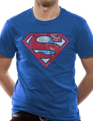 a43fe8f954dc Popron.cz - Pánské tričko Superman Logo Very Distressed modré bavlna ...