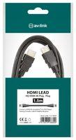 AV:link HDMI kabel vysokorychlostní 4K s Ethernetem, 1,5m